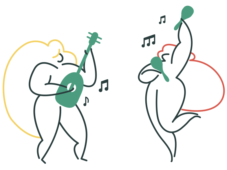 Playing music Clipart illustration in PNG, SVG