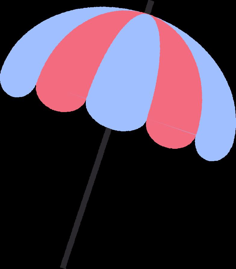 Ilustração de clipart de guarda-sol em PNG e SVG