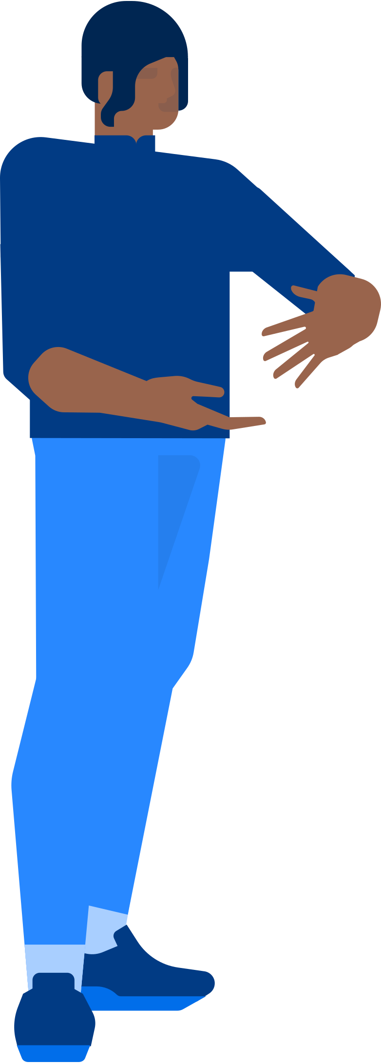 man holding smth Clipart illustration in PNG, SVG