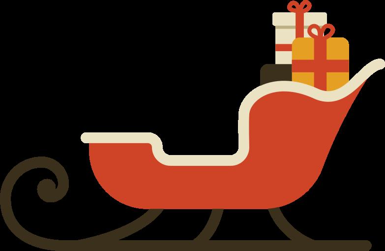 santa sleigh Clipart illustration in PNG, SVG