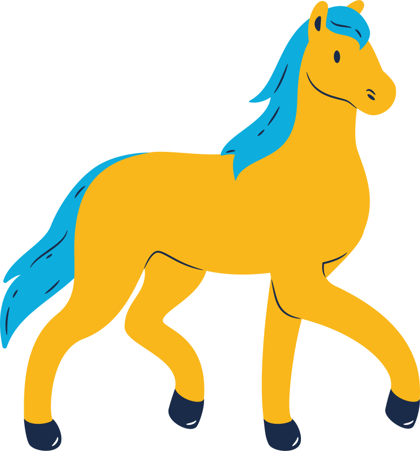 Pferd laufen Clipart-Grafik als PNG, SVG