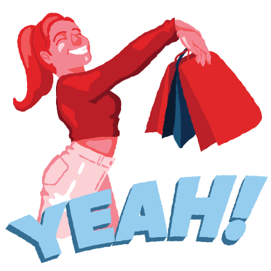 style Joy of shopping images in PNG and SVG | Icons8 Illustrations