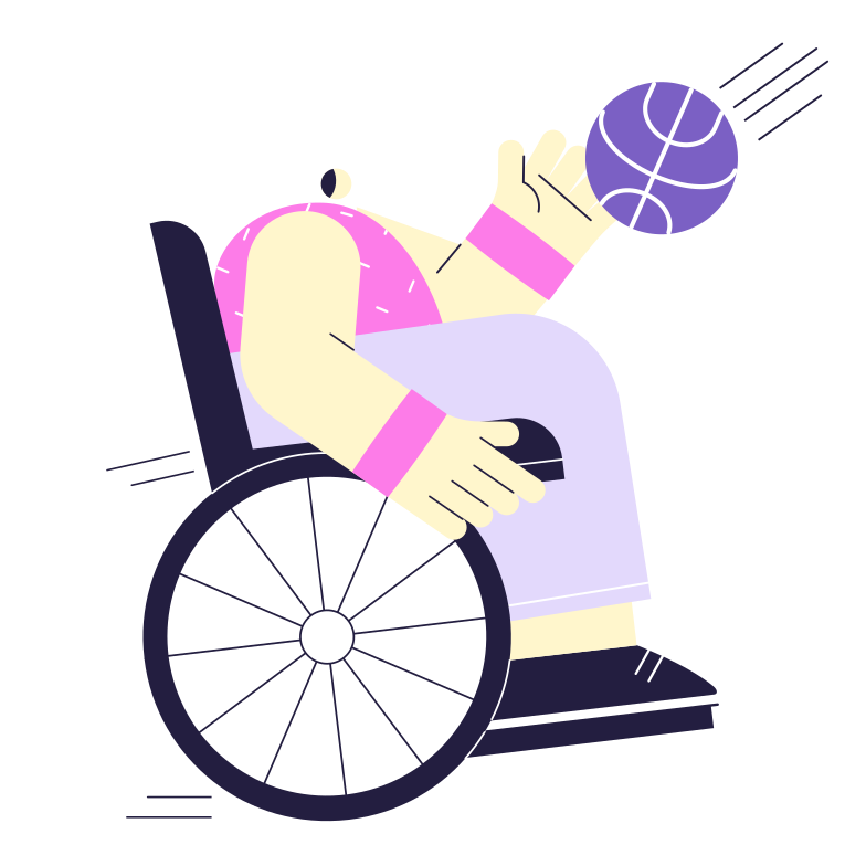 Take the ball! Clipart illustration in PNG, SVG