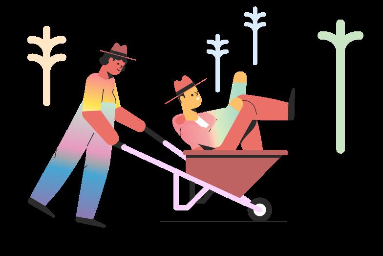 Wheelbarrow Clipart illustration in PNG, SVG