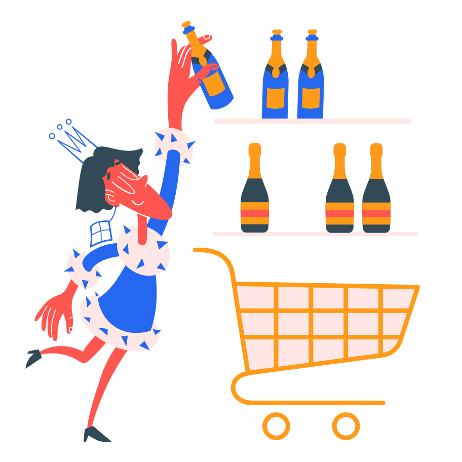 Picking drinks Clipart illustration in PNG, SVG