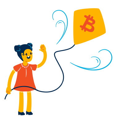 style Bitcoin rises up images in PNG and SVG | Icons8 Illustrations