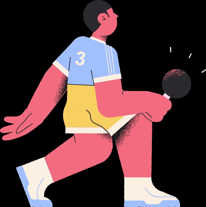 Ilustración de clipart de jugador de tenis de mesa en PNG, SVG
