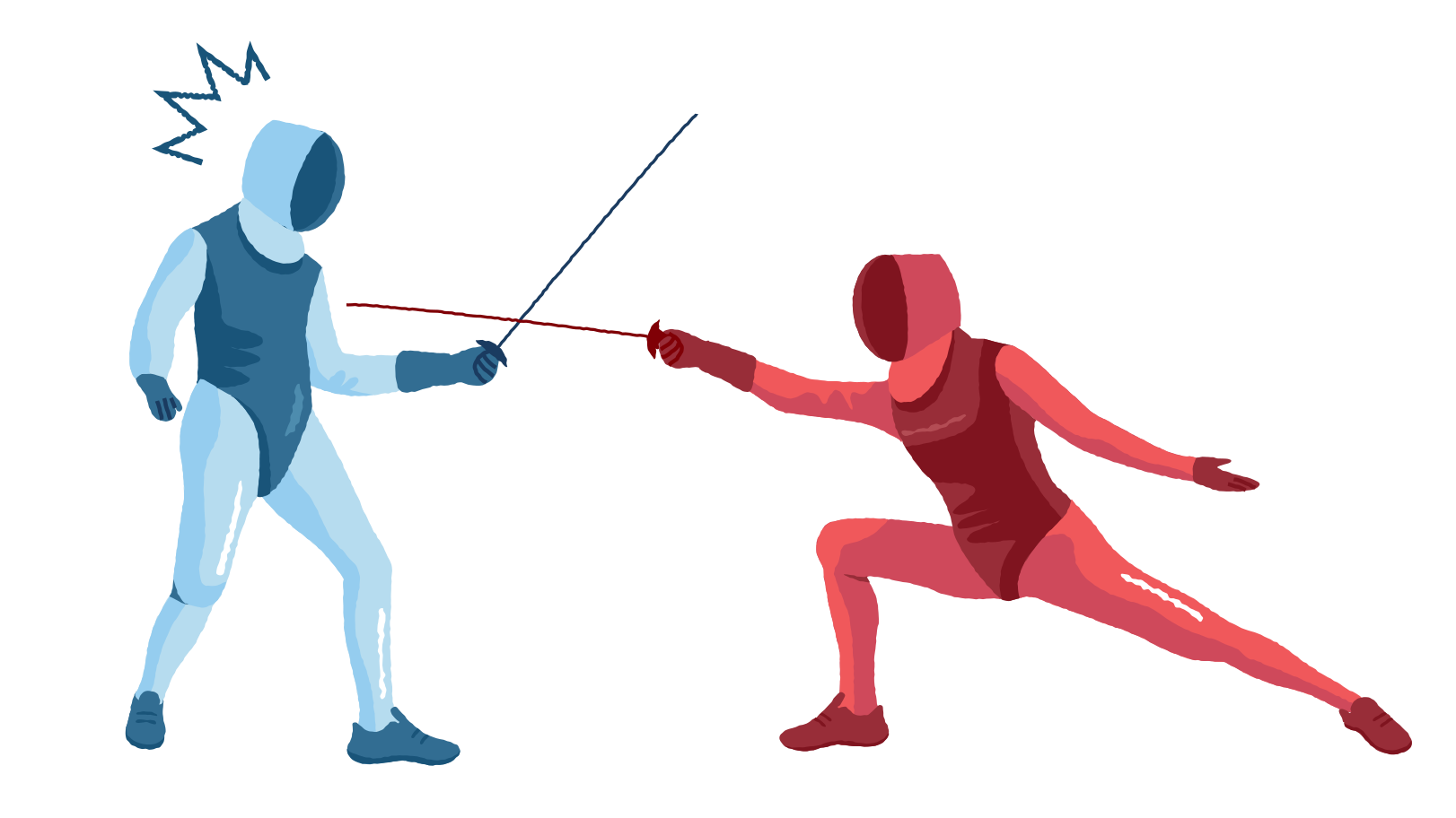 Fencing competition Clipart illustration in PNG, SVG