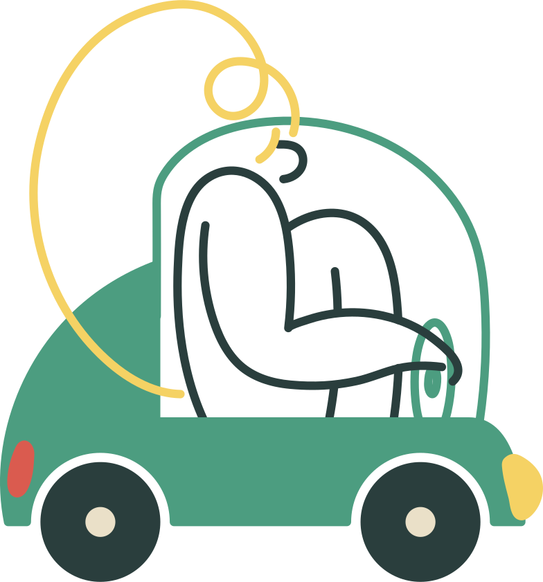 girl in a car Clipart illustration in PNG, SVG