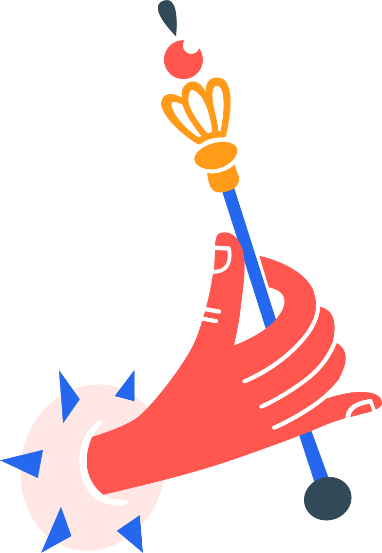 hand with royal rod Clipart illustration in PNG, SVG