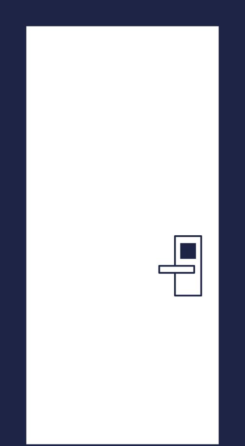 room door line Clipart illustration in PNG, SVG