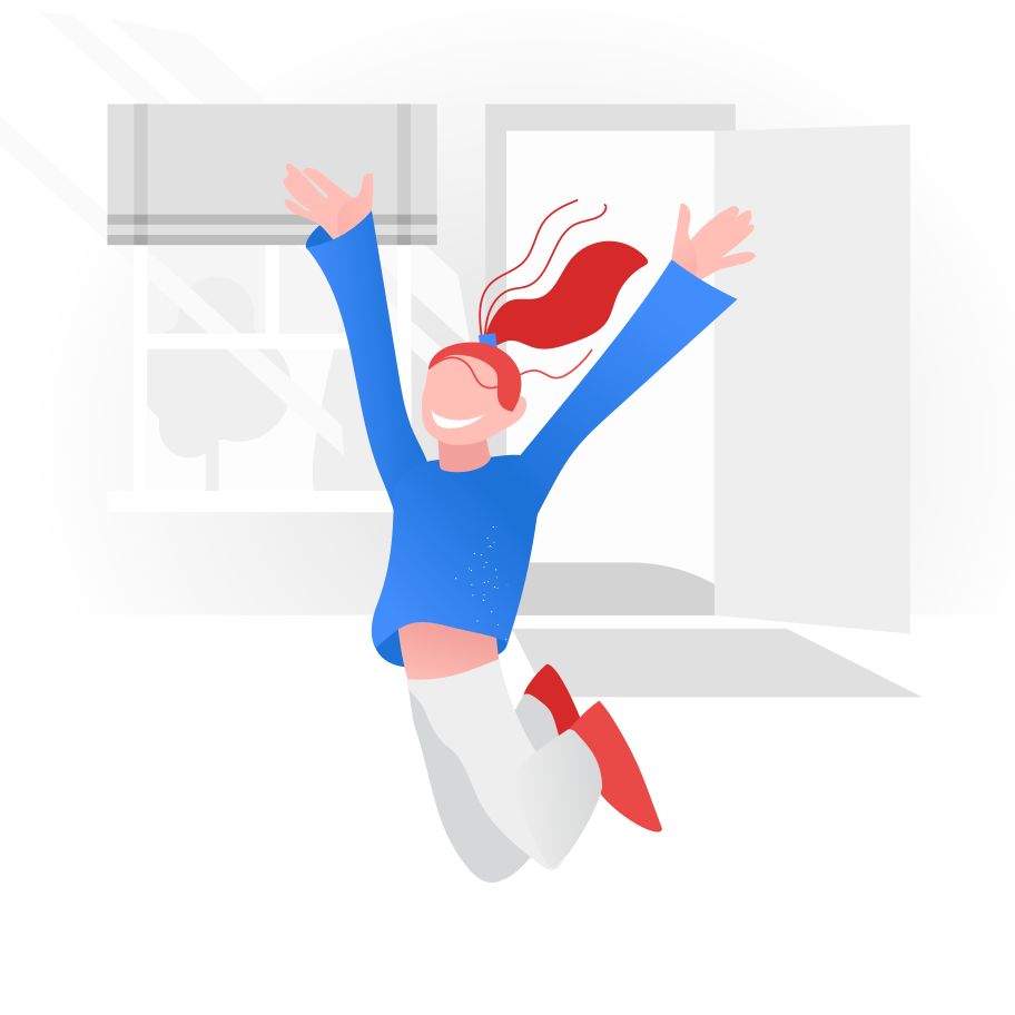 style End of quarantine. Happy and joyful girl Vector images in PNG and SVG   Icons8 Illustrations