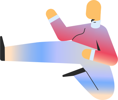 style chubby adult jump kick images in PNG and SVG | Icons8 Illustrations