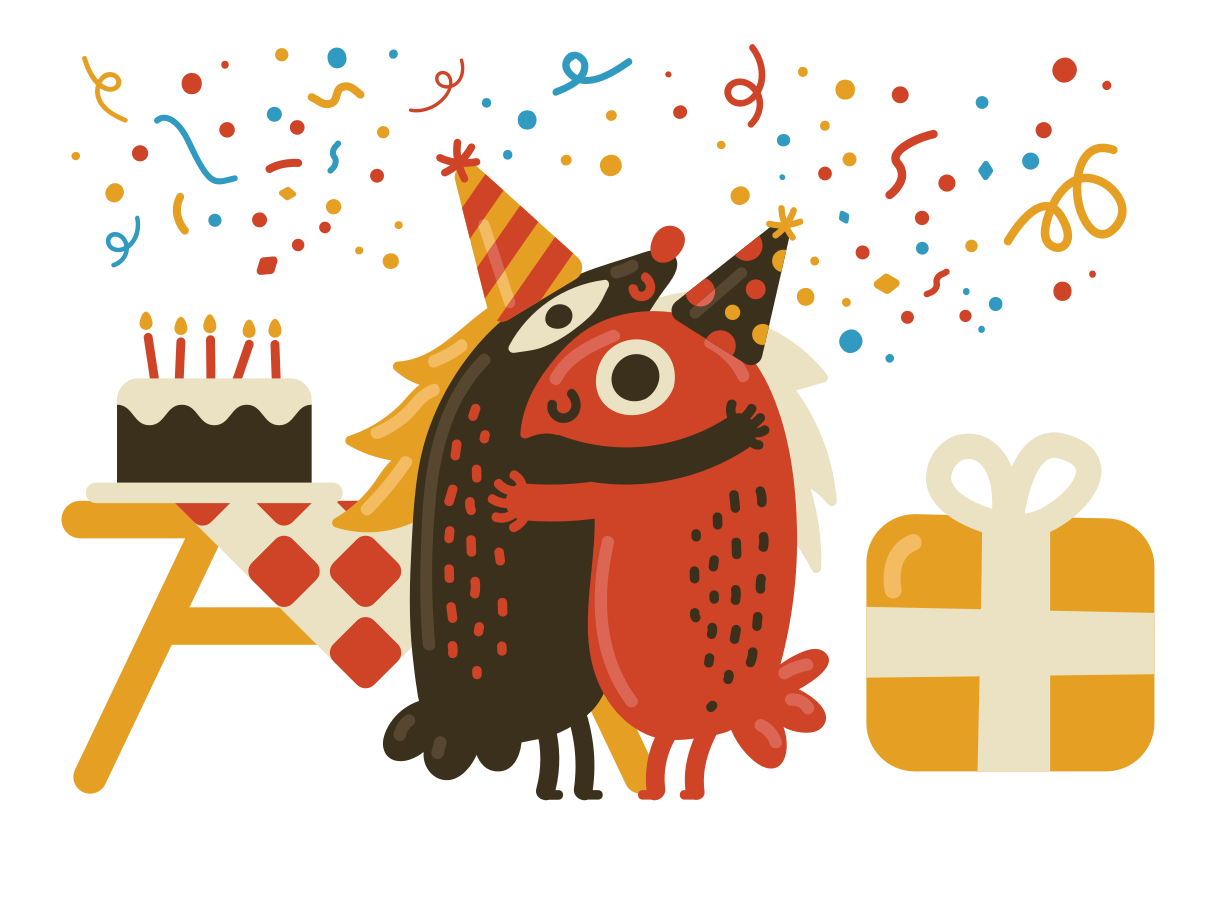 Happy birthday party  Clipart illustration in PNG, SVG