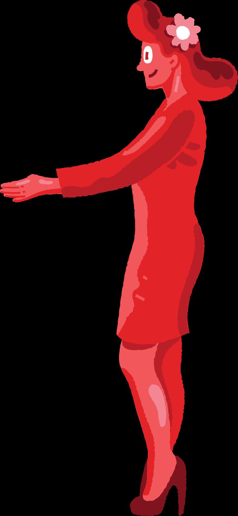 Illustration clipart woman aux formats PNG, SVG