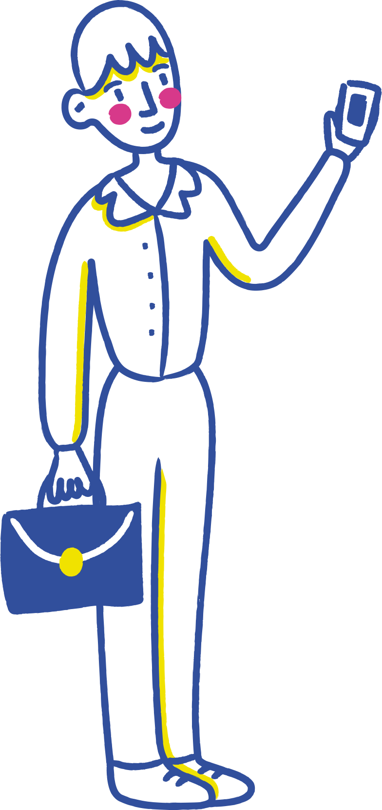 Geschäftsmann handy Clipart-Grafik als PNG, SVG
