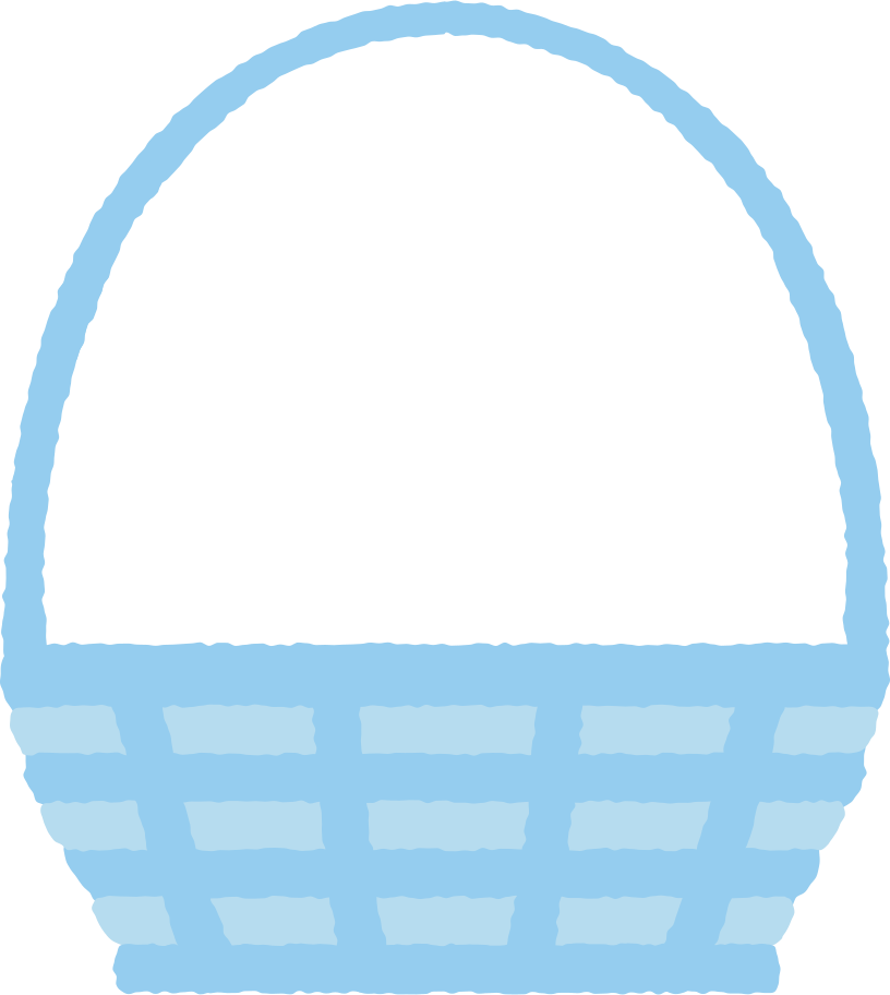 basket with long handle Clipart illustration in PNG, SVG
