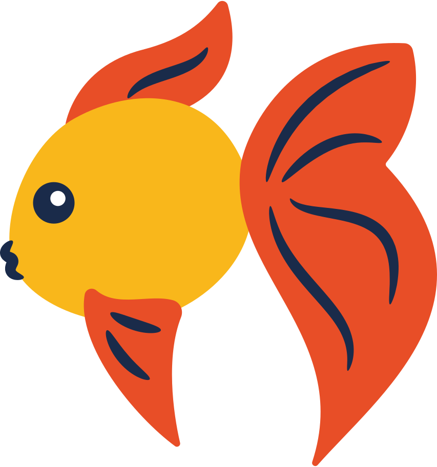 gold fish Clipart illustration in PNG, SVG