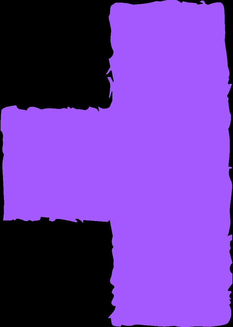 Клипарт Блок фиолетовый в PNG и SVG