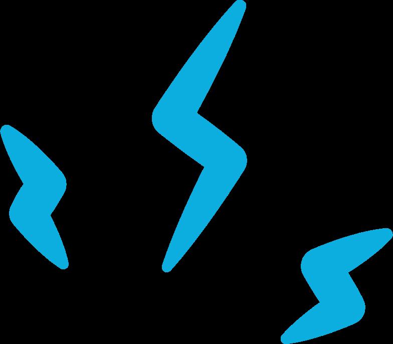 Illustration clipart decoration lightning spark aux formats PNG, SVG