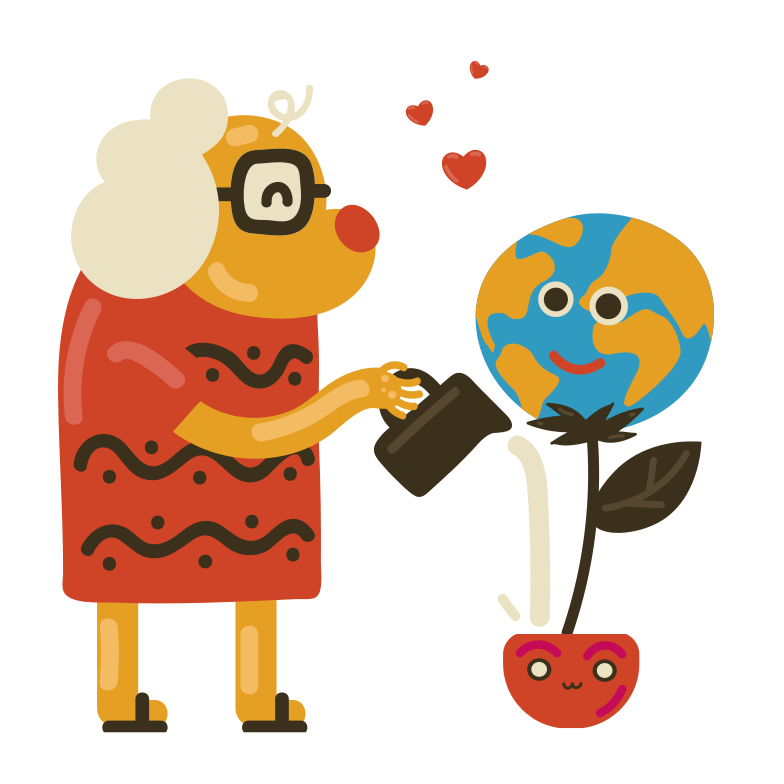 Caring for our planet Clipart illustration in PNG, SVG