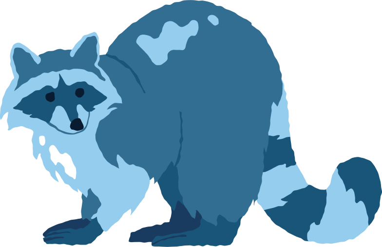 raccoon standing Clipart illustration in PNG, SVG