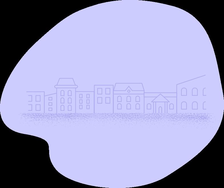 stadt, dorf Clipart-Grafik als PNG, SVG