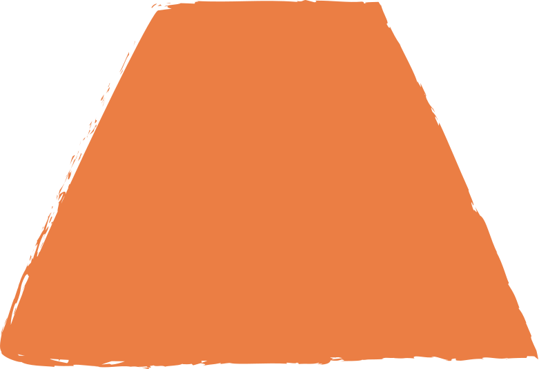 Trapez-orange Clipart-Grafik als PNG, SVG