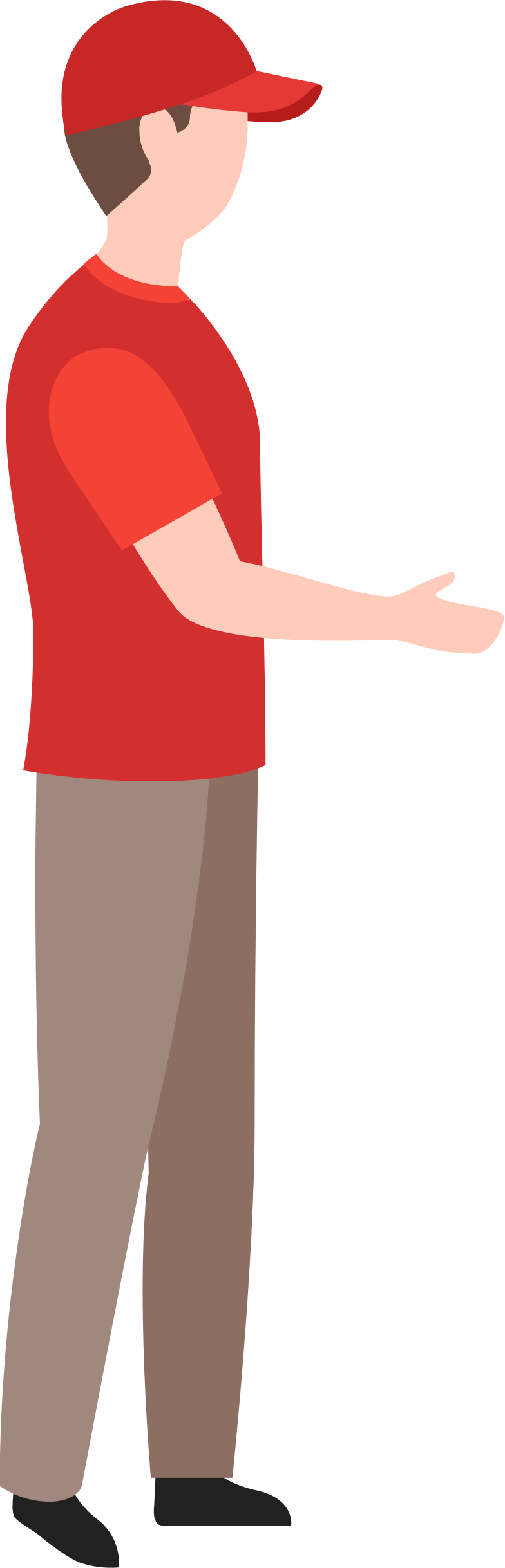 delivery man in red cap Clipart illustration in PNG, SVG