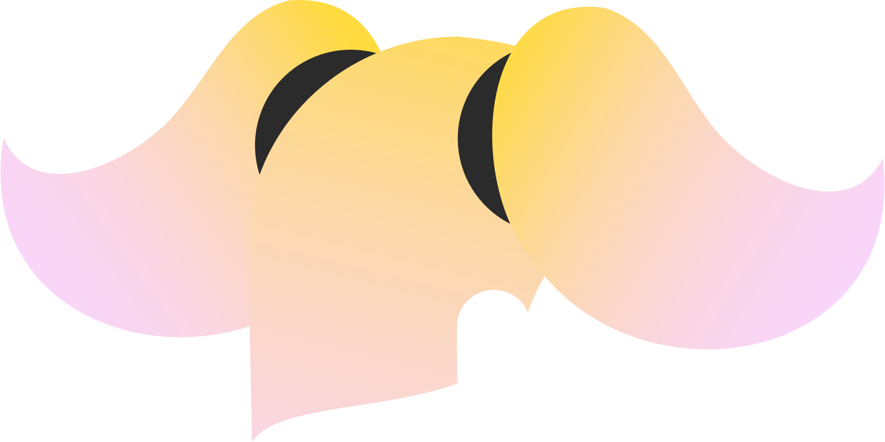 pigtails back Clipart illustration in PNG, SVG