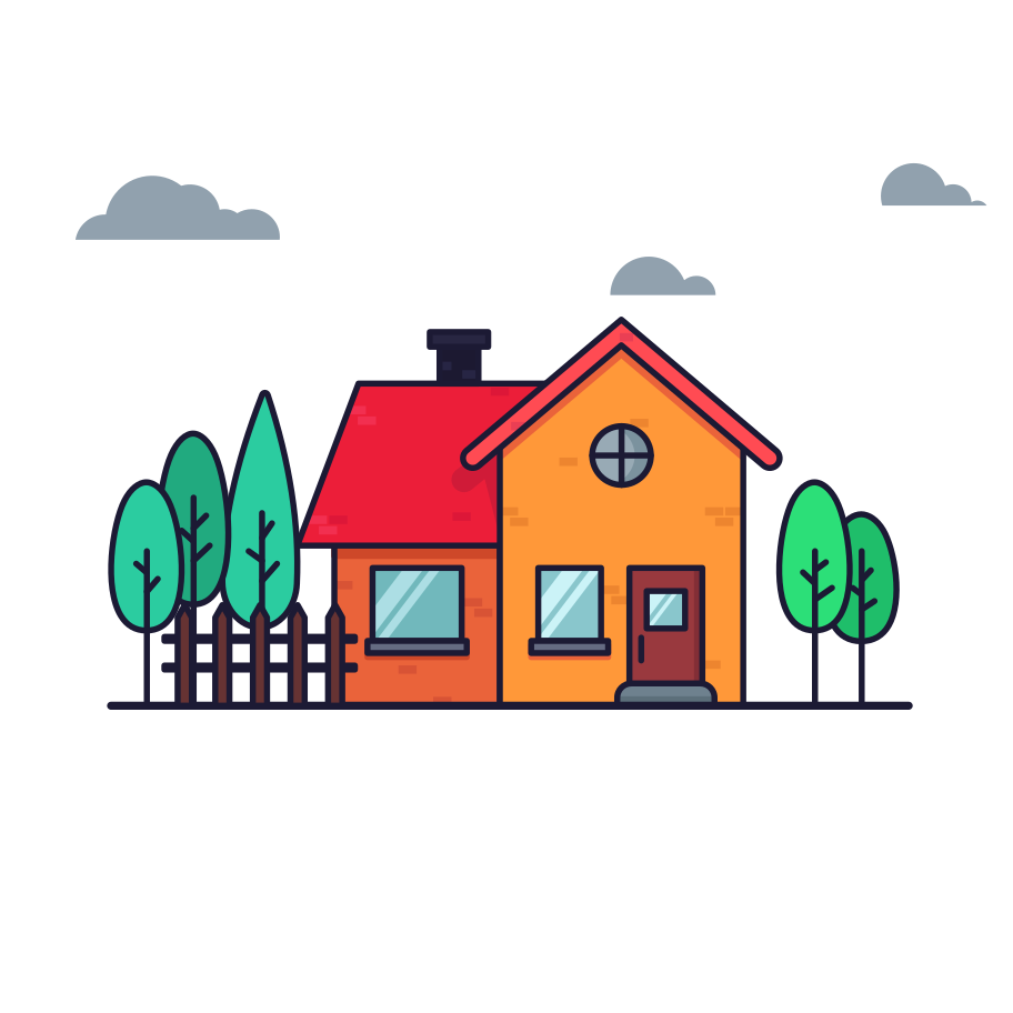 Sweet home Clipart illustration in PNG, SVG