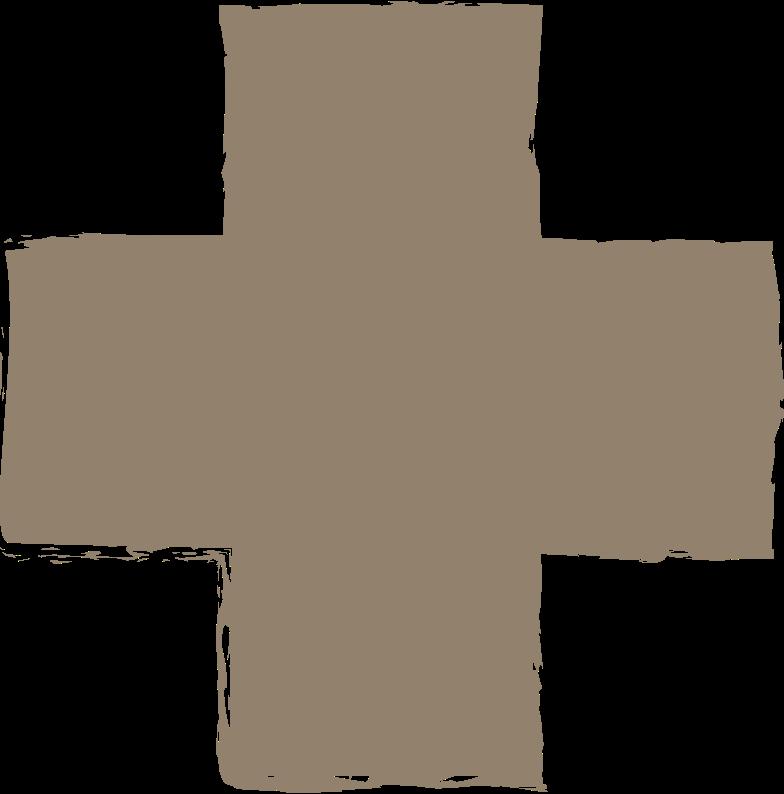 cross-dark-grey Clipart illustration in PNG, SVG