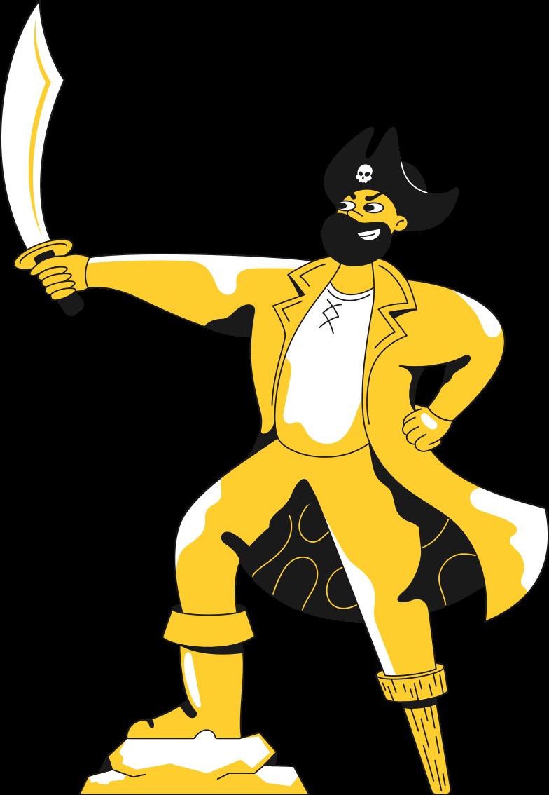 Immagine Vettoriale pirata in PNG e SVG in stile  | Illustrazioni Icons8