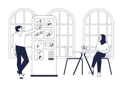 style Self-Service In Cafe images in PNG and SVG | Icons8 Illustrations