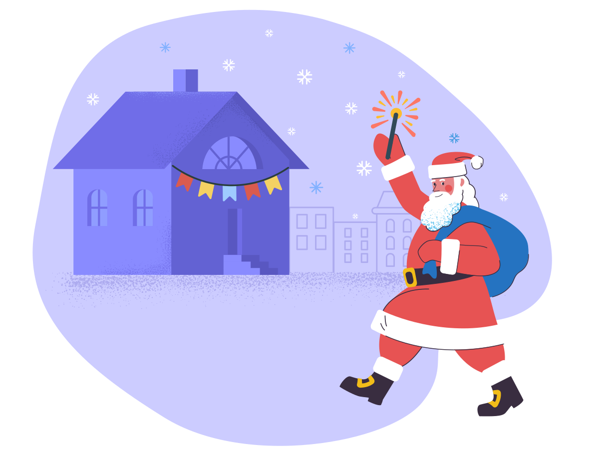 style Santa on Christmas eve  images in PNG and SVG   Icons8 Illustrations