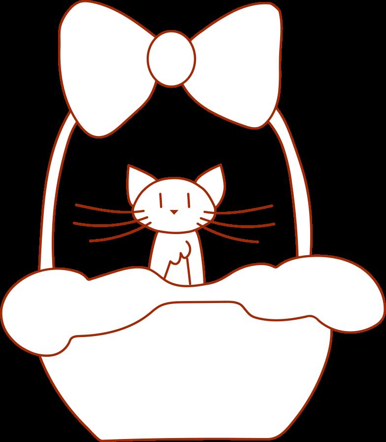 i support cat in the basket Clipart illustration in PNG, SVG