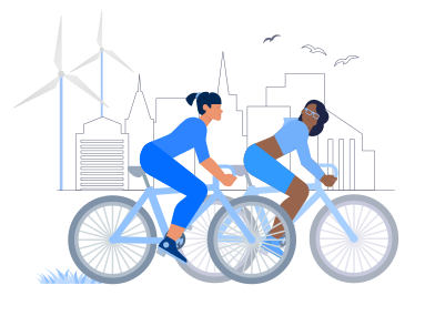 style Cycling With Friend images in PNG and SVG | Icons8 Illustrations
