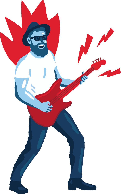 Ilustração de clipart de musician em PNG e SVG