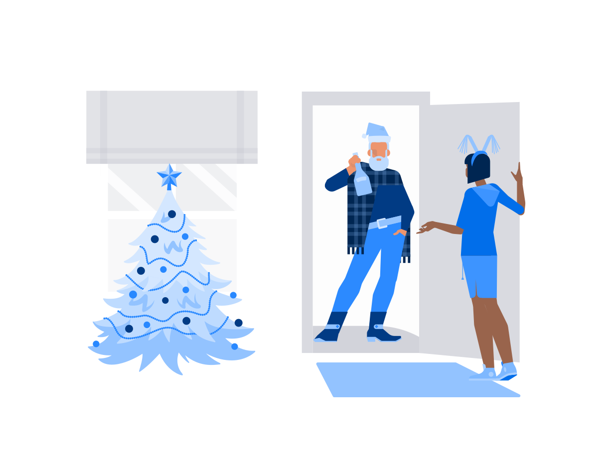 Christmas surprise Clipart illustration in PNG, SVG