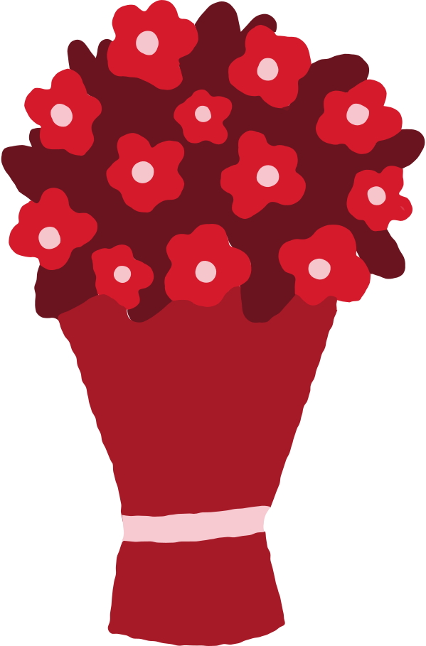 flowers bouquet Clipart illustration in PNG, SVG
