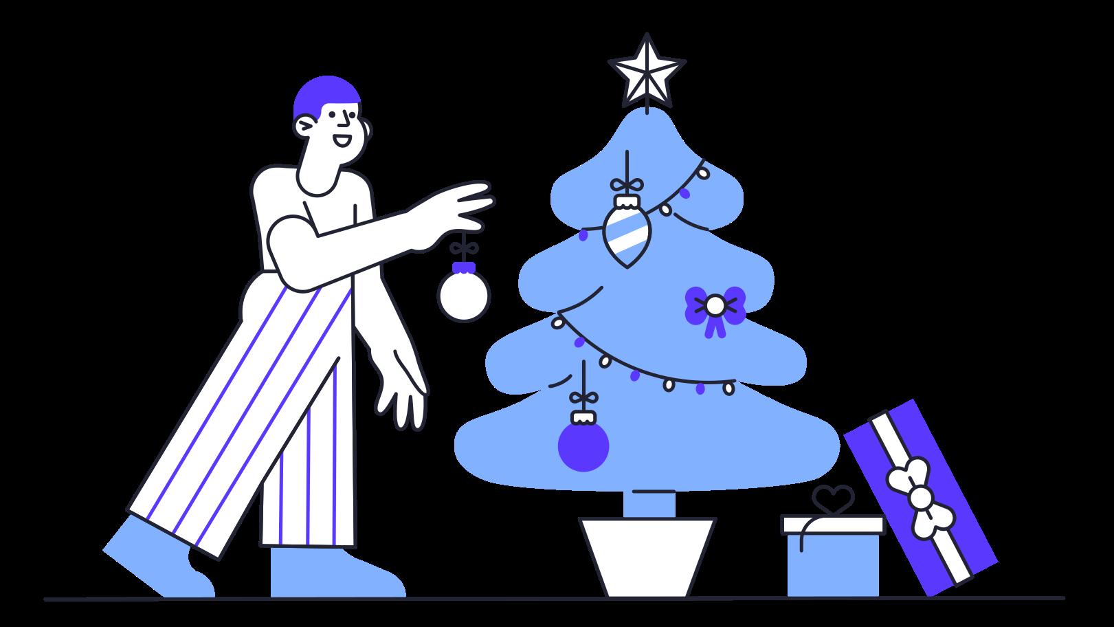 Ilustración de clipart de Decoración del árbol de navidad en PNG, SVG