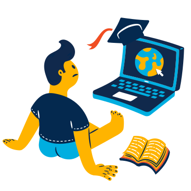 style Looking for online university images in PNG and SVG | Icons8 Illustrations