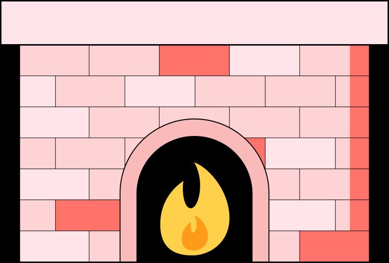 Ilustración de clipart de fireplace en PNG, SVG