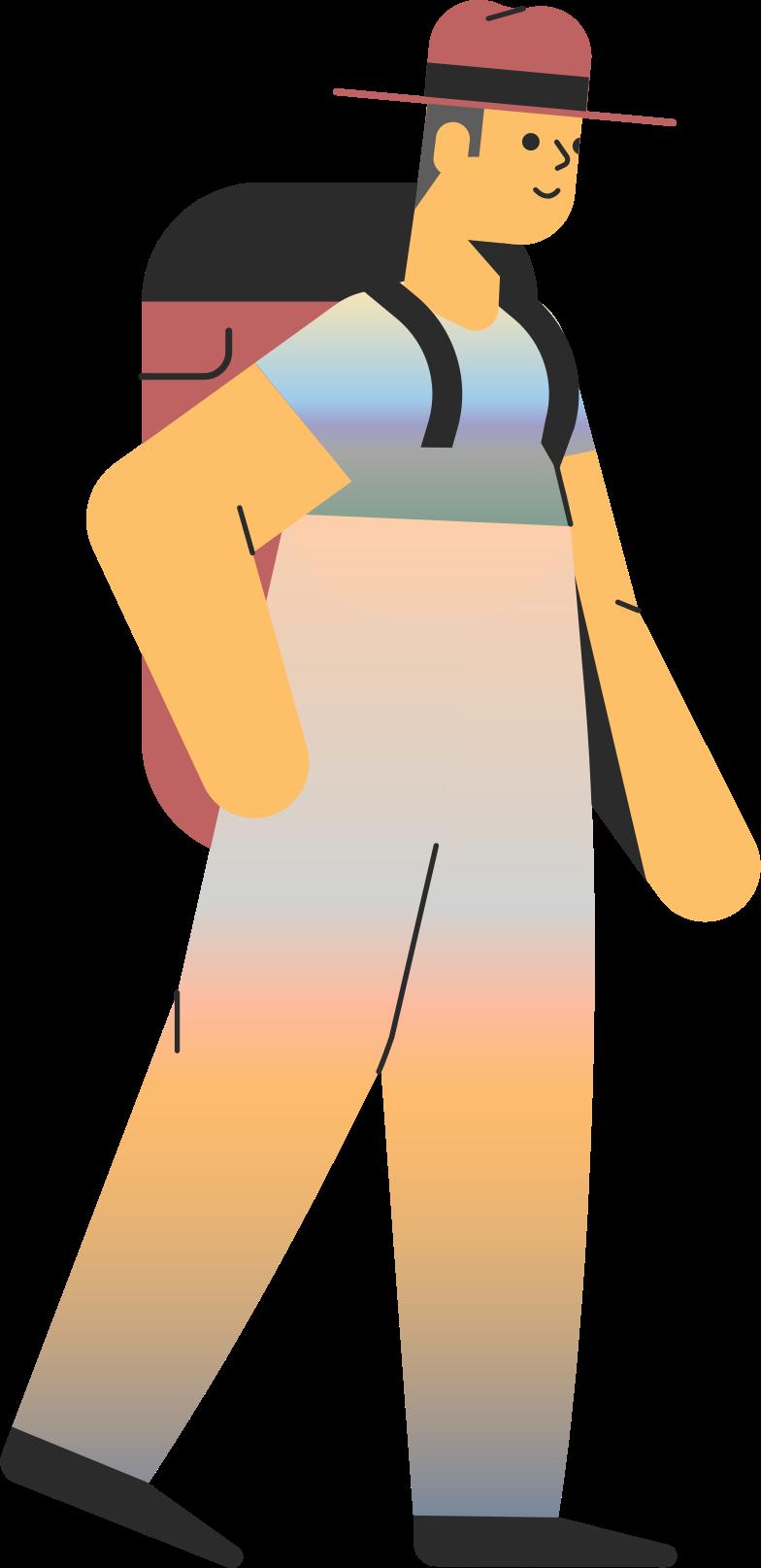 tourist man Clipart-Grafik als PNG, SVG