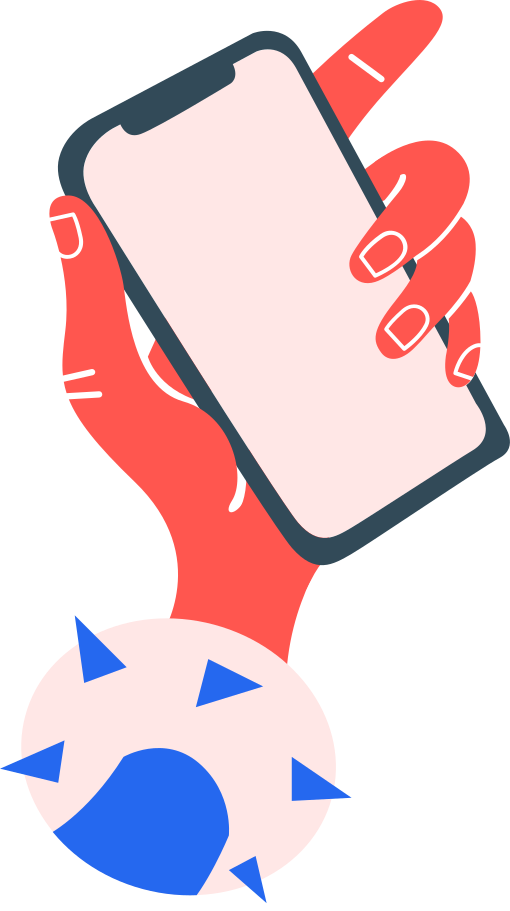 hand with phone Clipart illustration in PNG, SVG