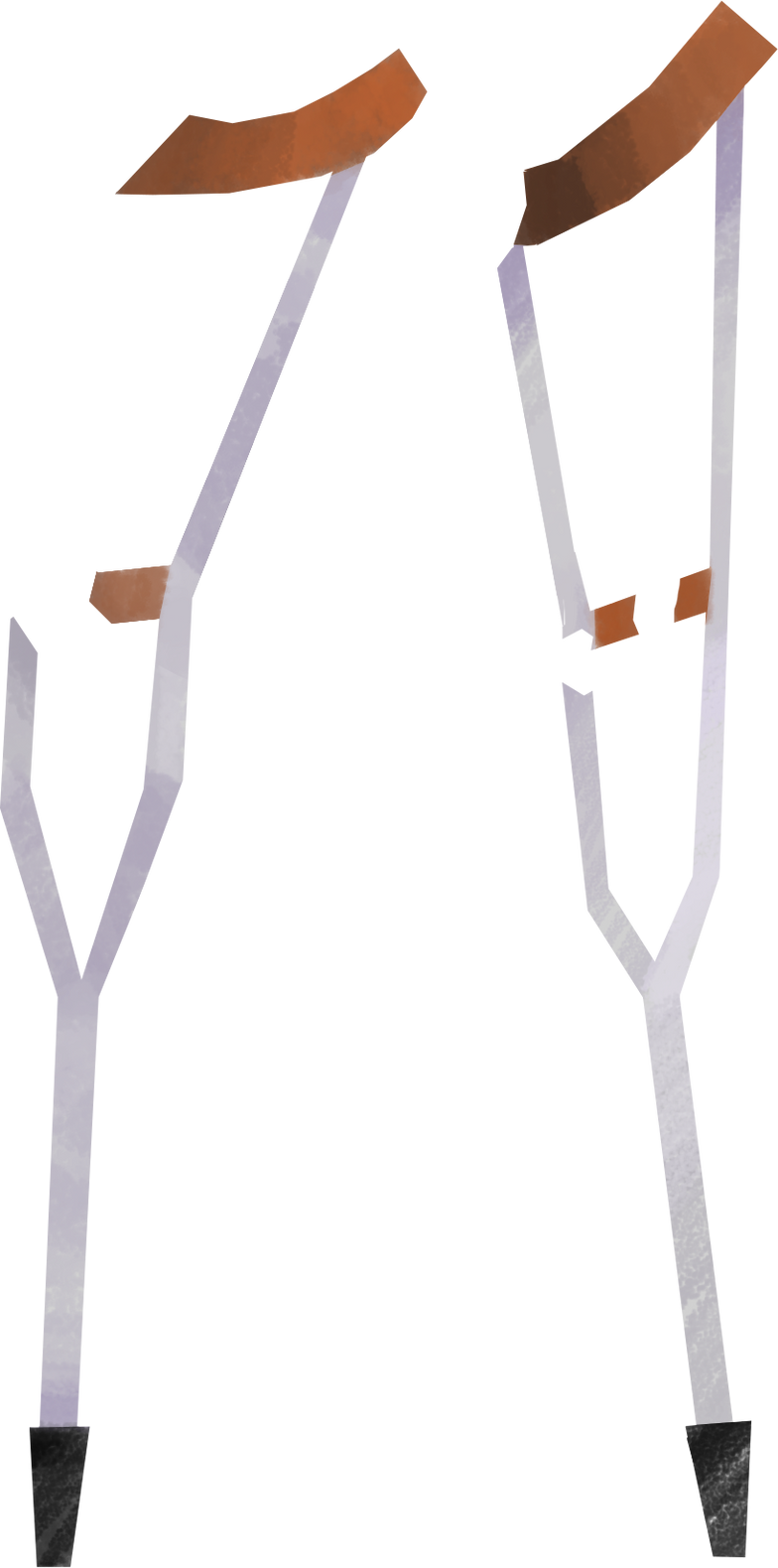 crutches Clipart illustration in PNG, SVG