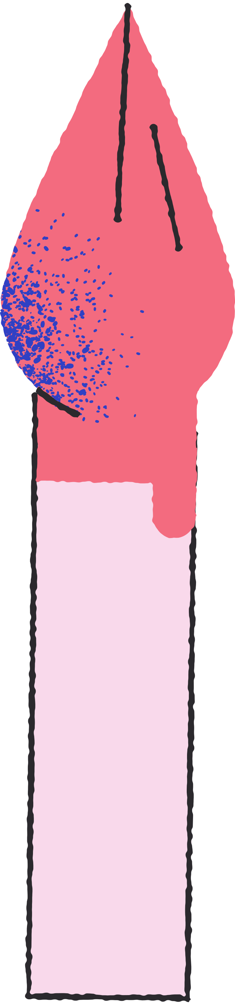roter pinsel Clipart-Grafik als PNG, SVG