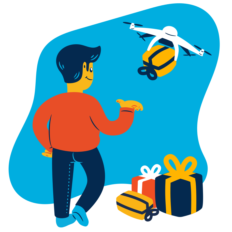 Gift delivery Clipart illustration in PNG, SVG