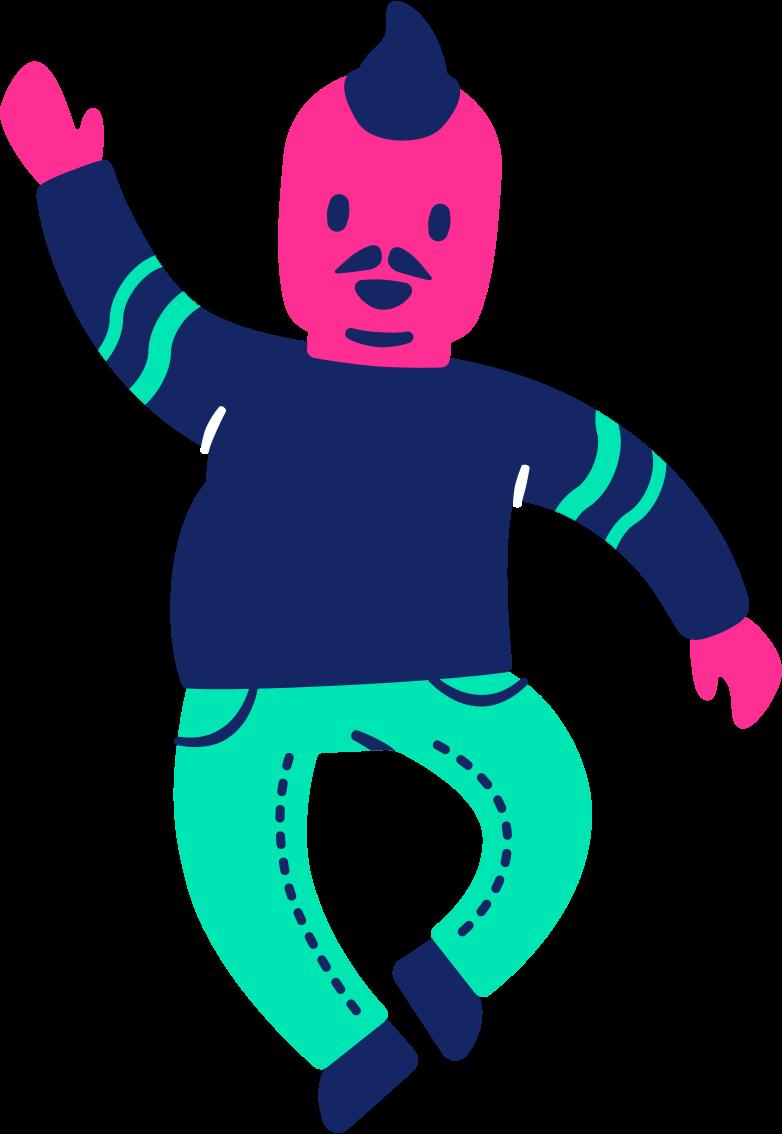 man fat dancing Clipart illustration in PNG, SVG