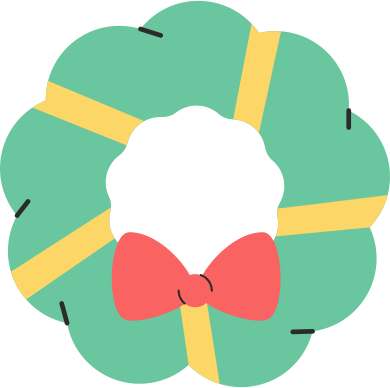style christmas wreath simple images in PNG and SVG   Icons8 Illustrations